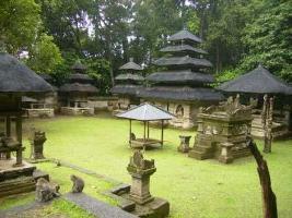 Alas Kedaton Temple Historical Site Bali Holy Monkey Forest Pura