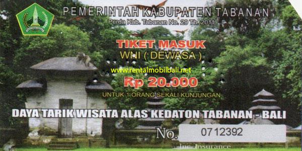 Harga Tiket Masuk Alas Kedaton Tabanan Bali Terbaru 2018 Kab