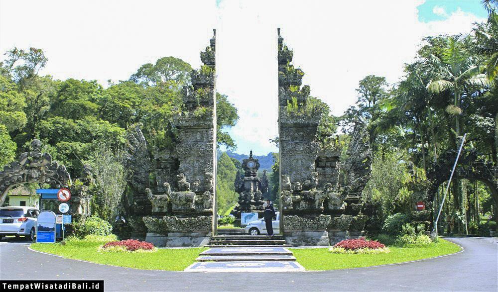 Kebun Raya Bali Taman Rekreasi Edukasi Gerbang Masuk Bedugul Kab