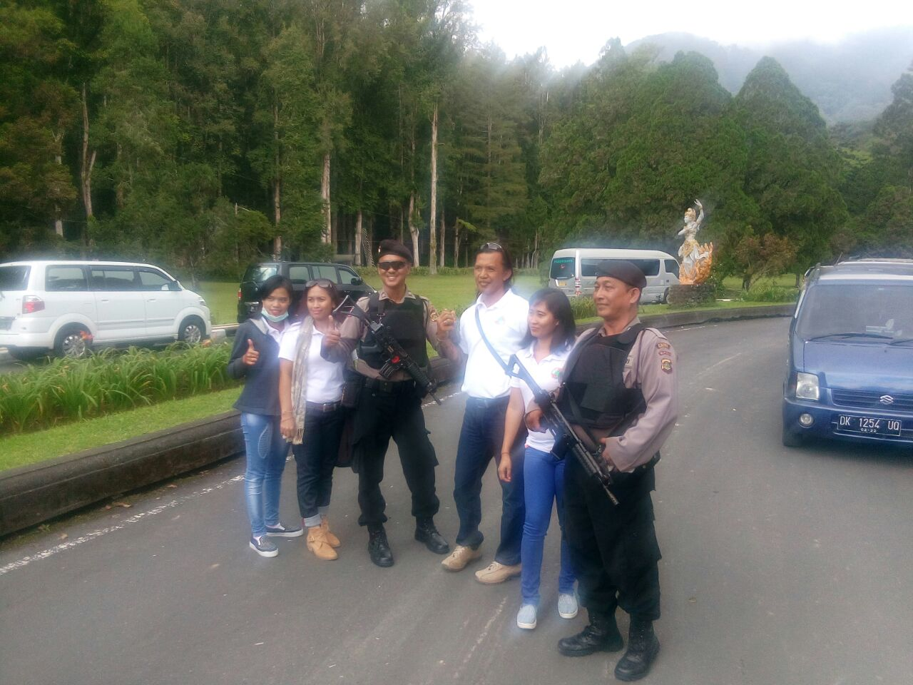 Patroli Obyek Wisata Kebun Raya Bedugul Anggota Sabhara Polres Img