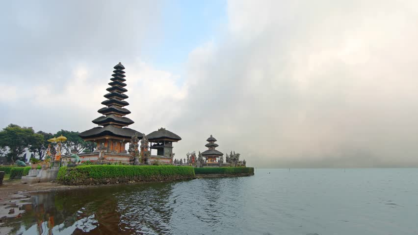 Pura Ulun Danu Bratan Shaivite Temple Tall Multi Tiered Roof