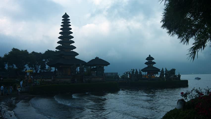 Pura Ulun Danu Bratan Shivaite Hindu Water Temple Located Shore