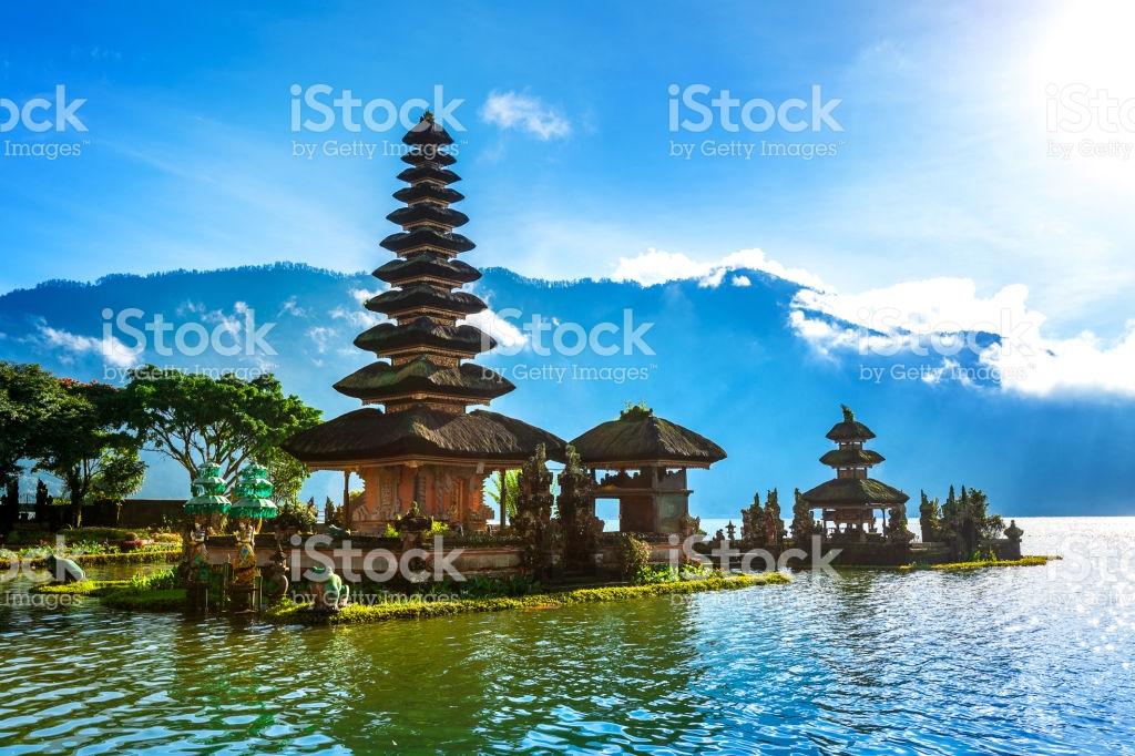 Pura Ulun Danu Bratan Temple Bali Indonesia Stock Photo Royalty