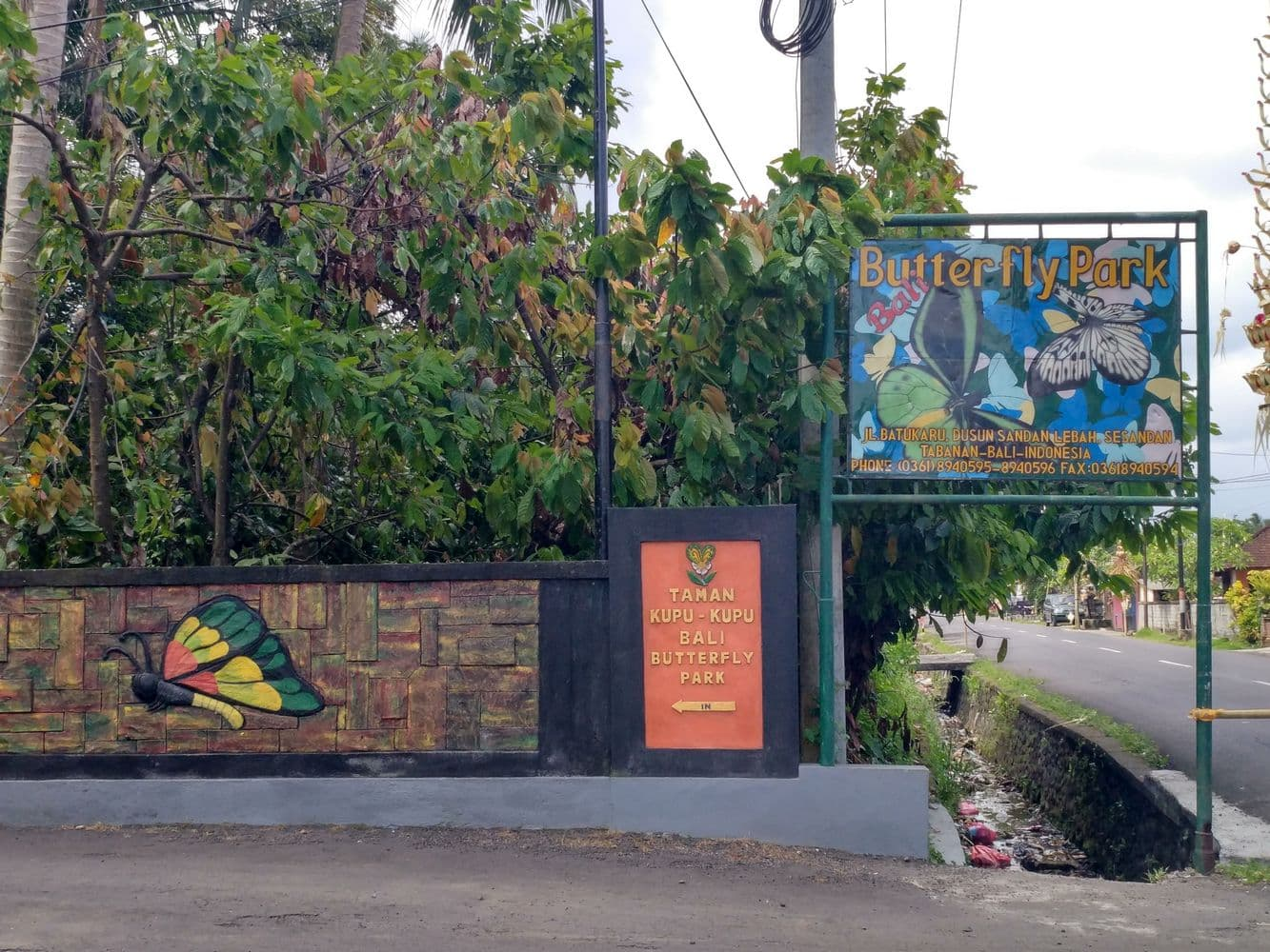 Bali Butterfly Park Location Map Cost Admission Opening Hours 00017