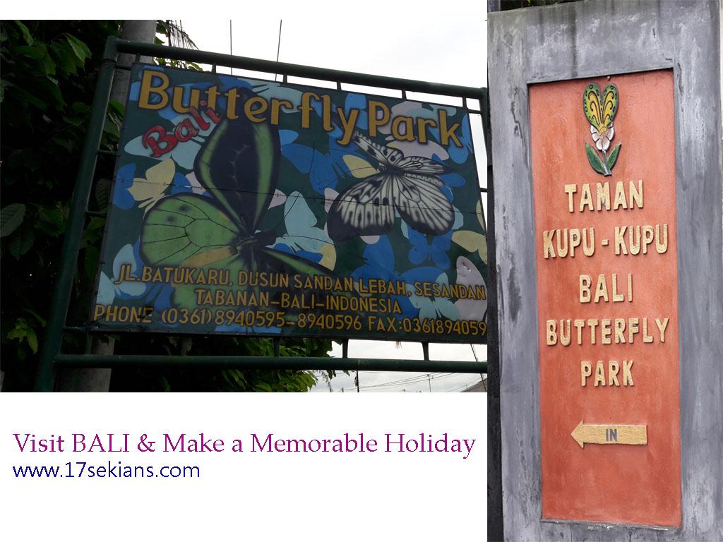 Objek Wisata Lokasi Harga Tiket Taman Kupu Butterfly Park Tabanan