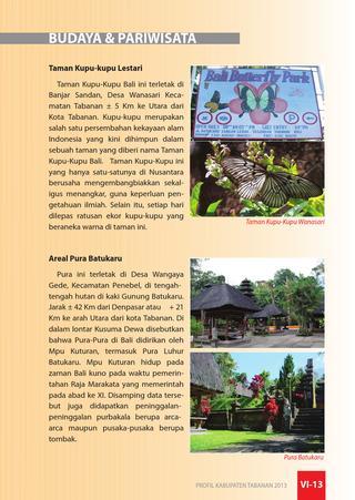 Profil Kabupaten Tabanan Wayan Dwitanaya Issuu Budaya Pariwisata Taman Kupu
