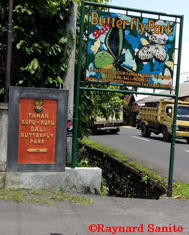 Taman Kupu Tabanan Raynardsanito Papan Nama Bali Kab