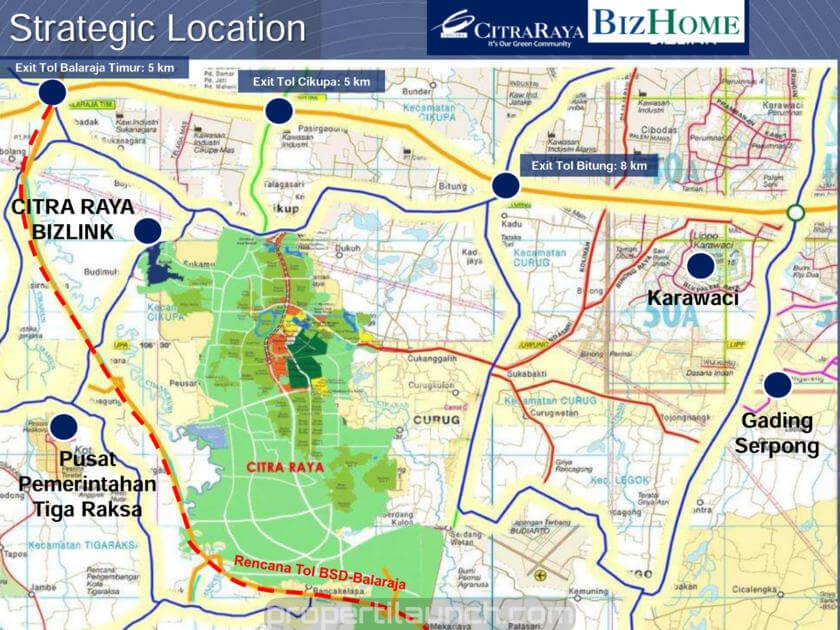 Bizhome Citra Raya Launching Perumahan Rp 299 Jutaan Peta Lokasi