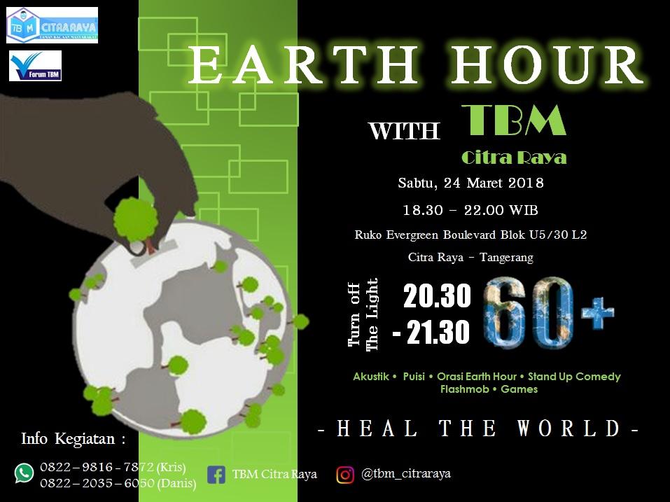 Earth Hour 2018 Tbm Citra Raya Kab Tangerang Dunia Air