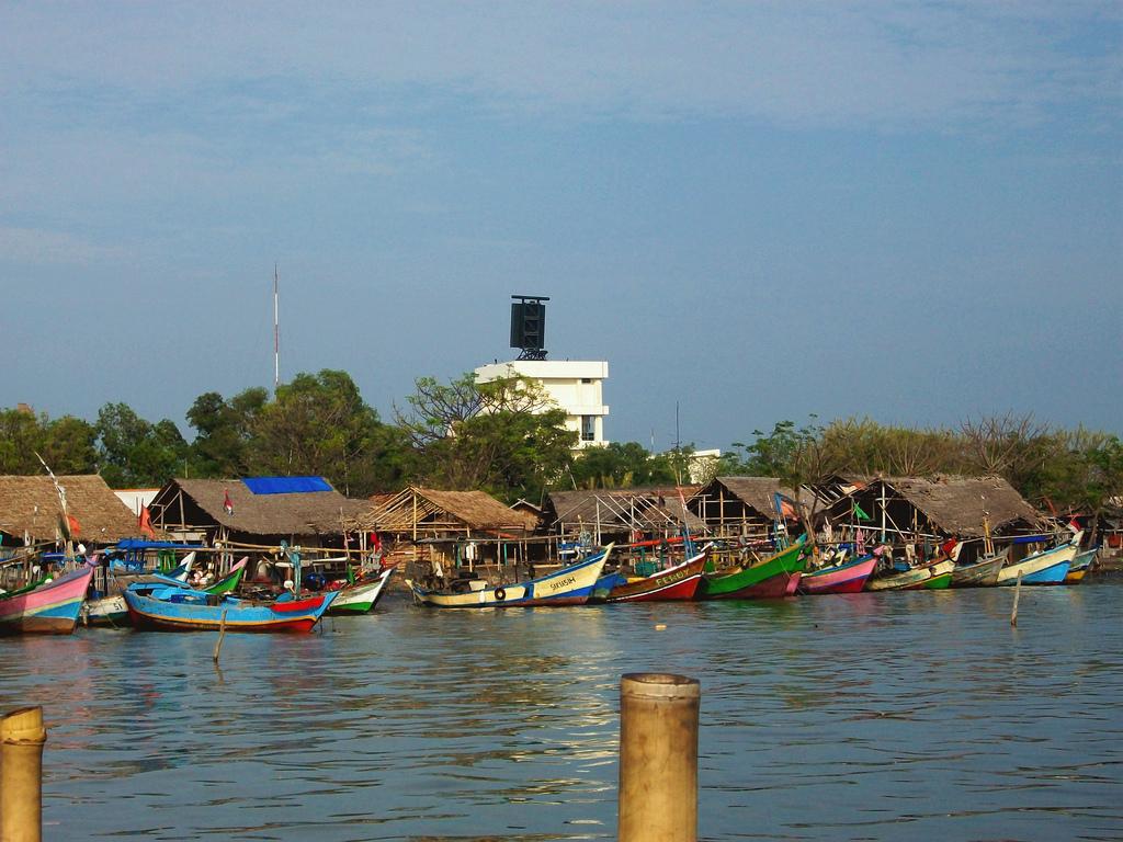 10 Foto Pantai Tanjung Kait Tangerang Banten Spot Mancing Bagan