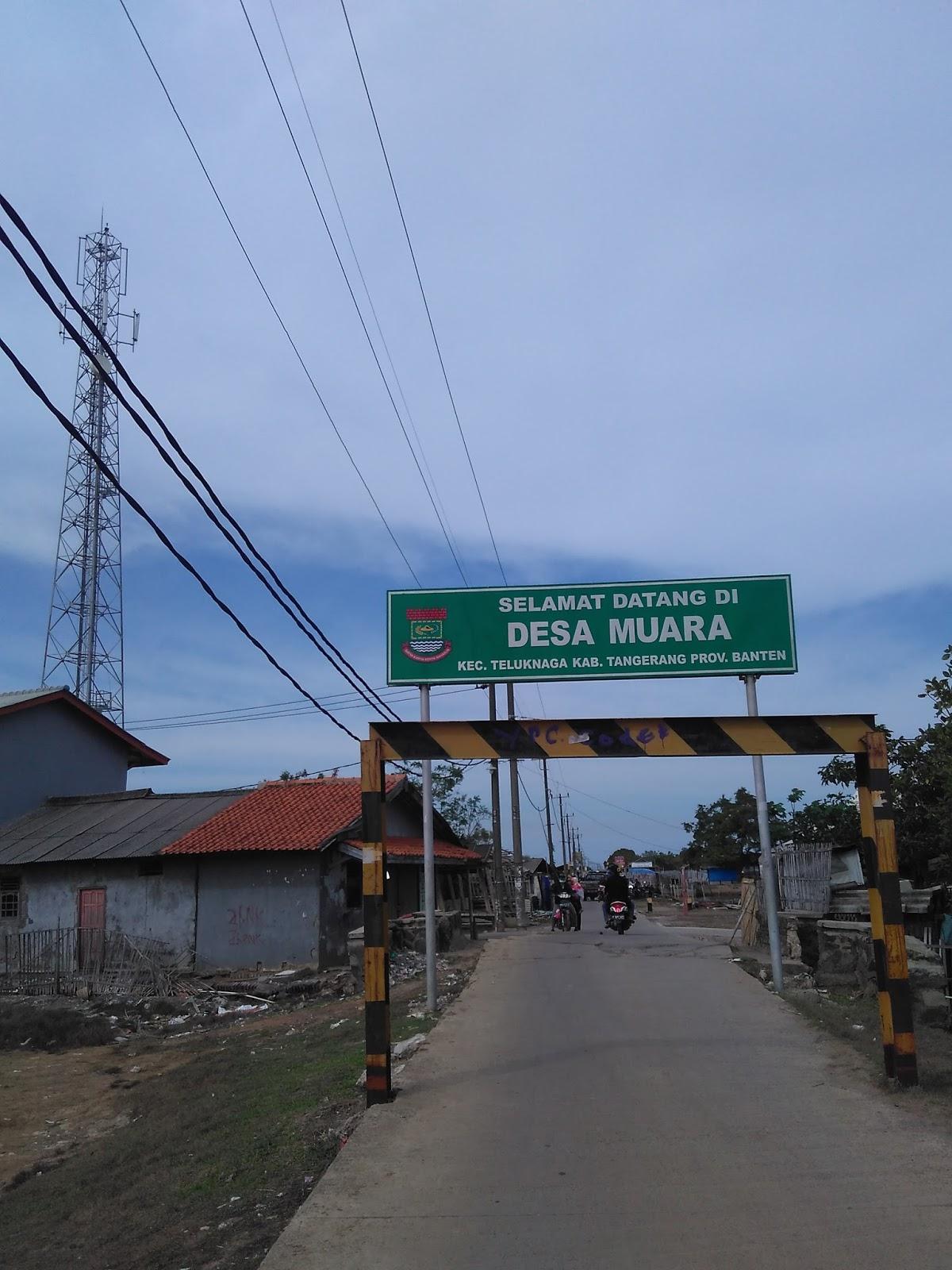 Ngopibareng Gerbang Masuk Desa Muara Kecamatan Teluknaga Kab Tangerang Pantai