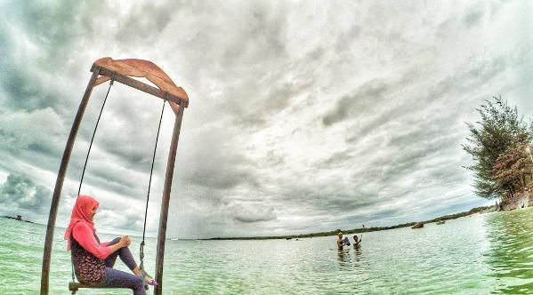 Rute Harga Tiket Masuk Pantai Tanjung Lesung Keindahan Burung Kab