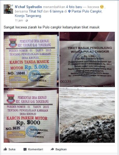 Wow Masuk Wisata Religi Pulau Cangkir Pengunjung Bayar Tiket Tiga