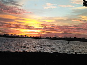 Tangerang Wikipedia Cipondoh Sunset Jpeg Kab