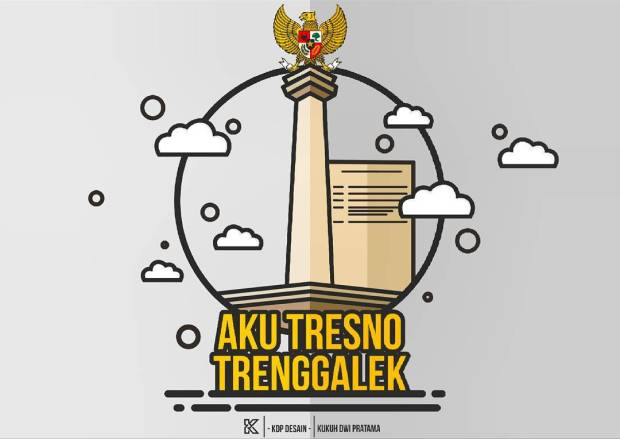 Flat Desain Tugu Alun Trenggalek Kdpdesain Desaingrafis Coreldrawx7 Hits Akutresnotrenggalek