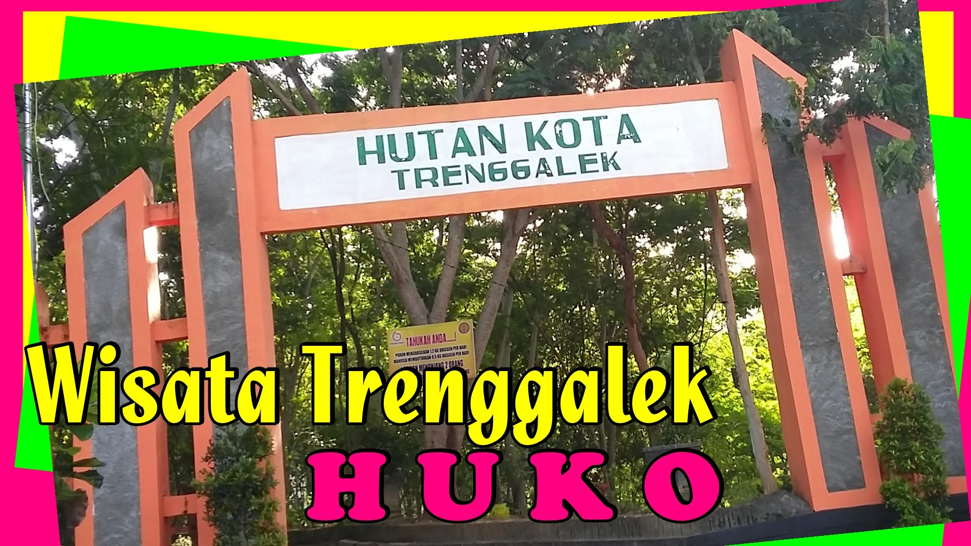 Wisata Trenggalek Hutan Kota Huko Youtube Alun Kab
