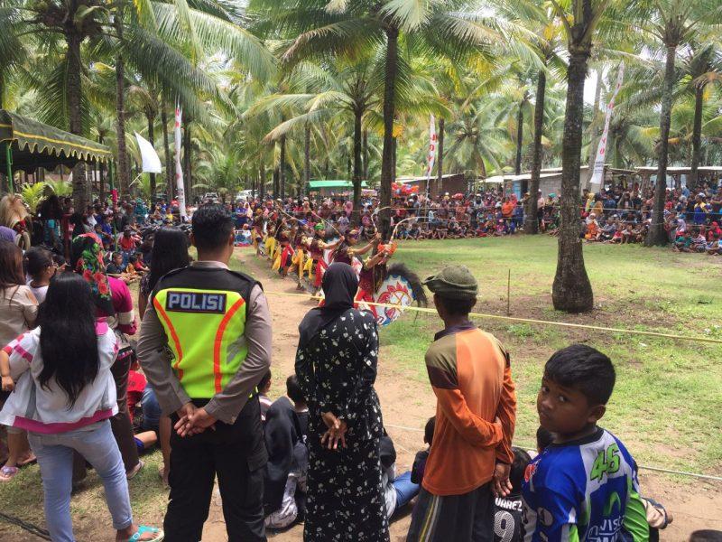3 Paguyuban Seni Jaranan Tampil Pantai Konang Mendapat Pengamanan Polres