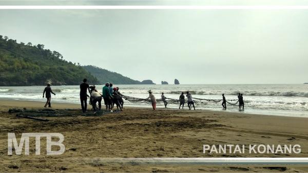 Menikmati Sensasi Jaring Tarik Pantai Konang Trenggalek Kab