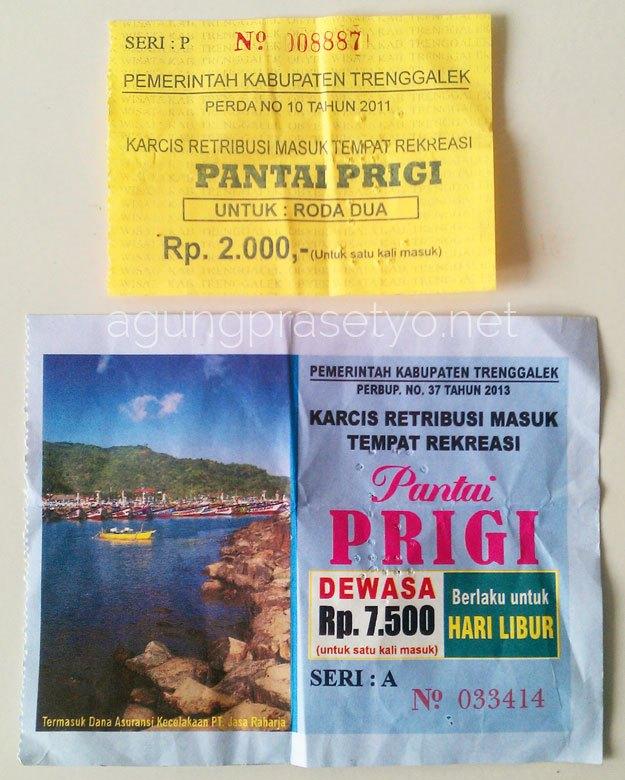 Wisata Pantai Prigi Karanggongso Trenggalek Tiket Masuk Kab