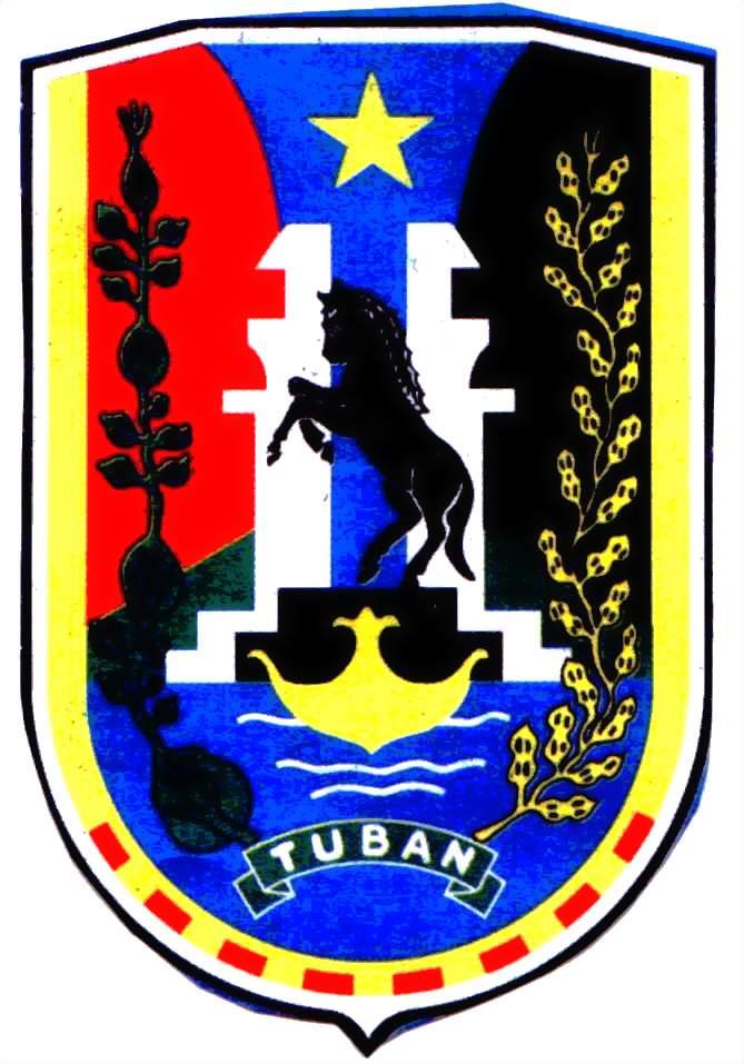 Asyek Kabupaten Tuban Hometown Kuda Hitam Berdiri Ditengah Tengah Gapura