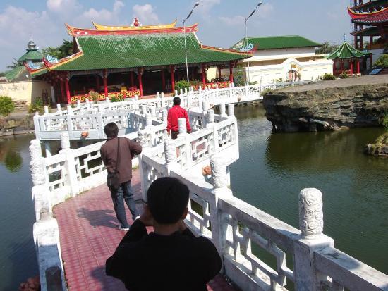 Memberi Makan Ikan Dikolam Picture Kwan Sing Bio Temple Tuban