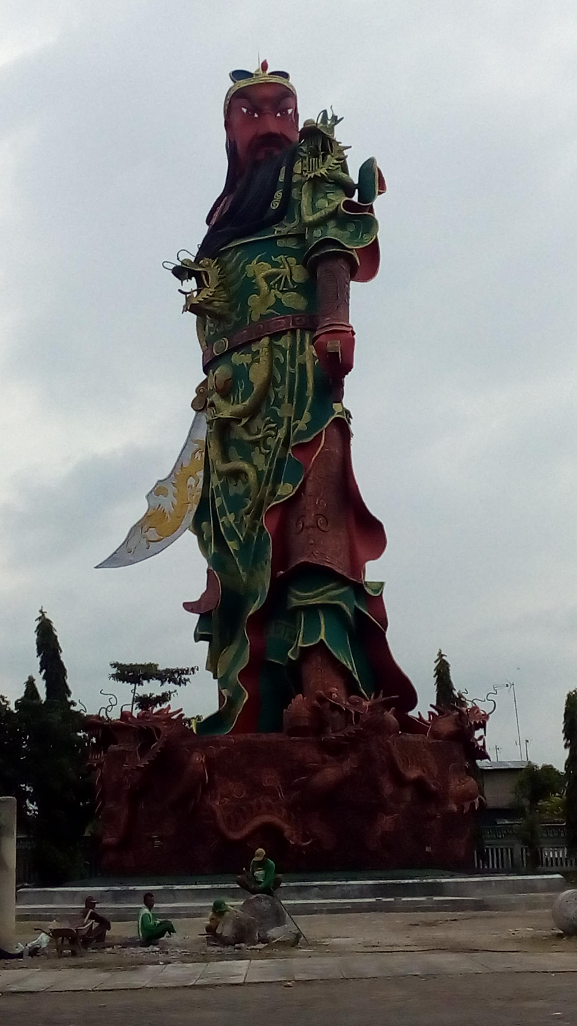 Patung Kongco Kwan Kong Klenteng Sing Bio Tuban Kab