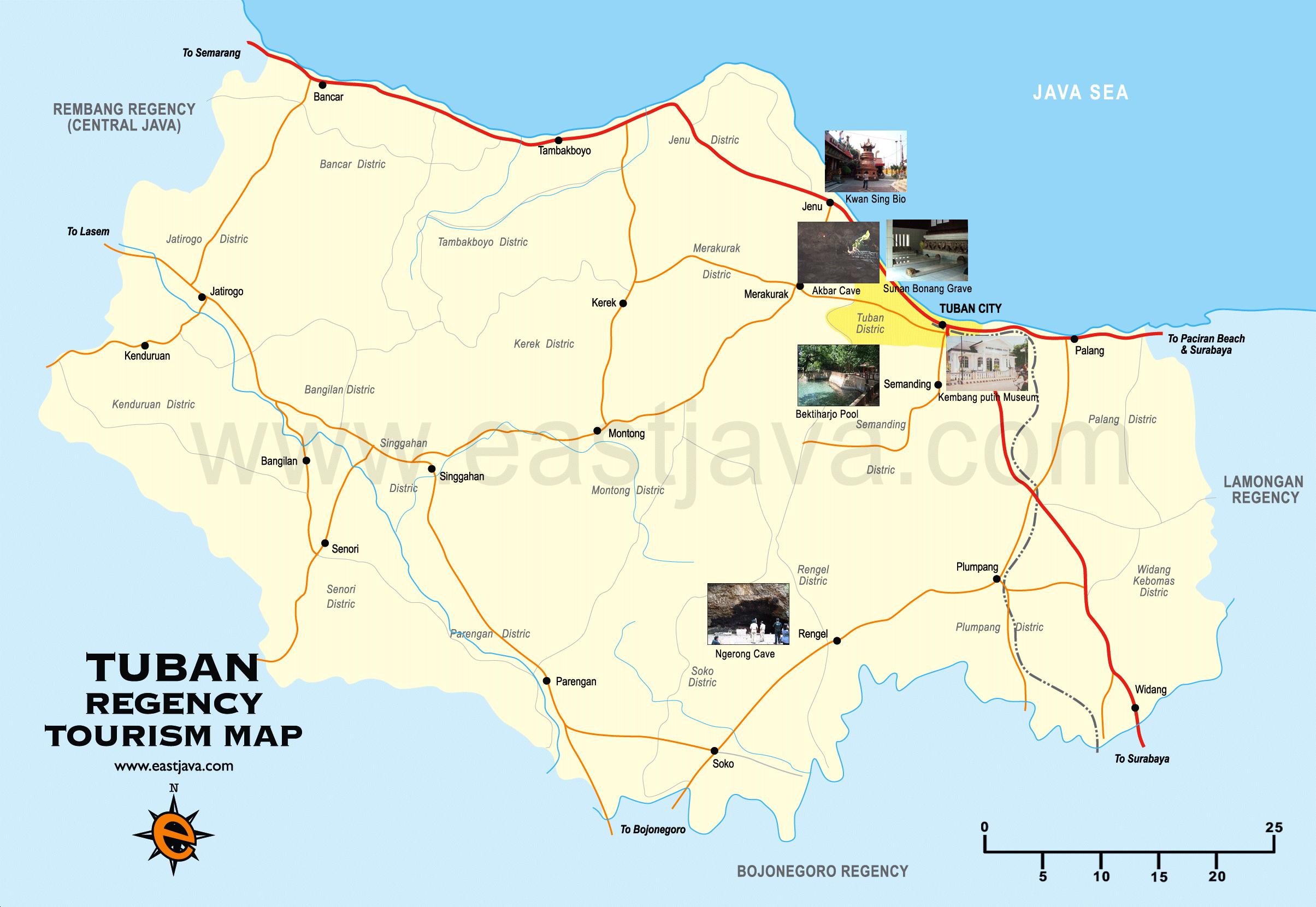Map Tuban Peta Google Taman Kambang Putih Kab