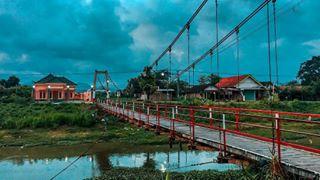 Tulungagungku Instagram Posts Deskgram Sekian Jembatan Gantung Tulungagung Sampean Wes