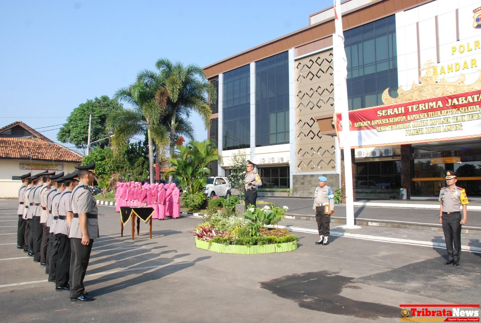 Jabatan Polresta Bandar Lampung Diserah Terimakan Empat Masjid Agung Al