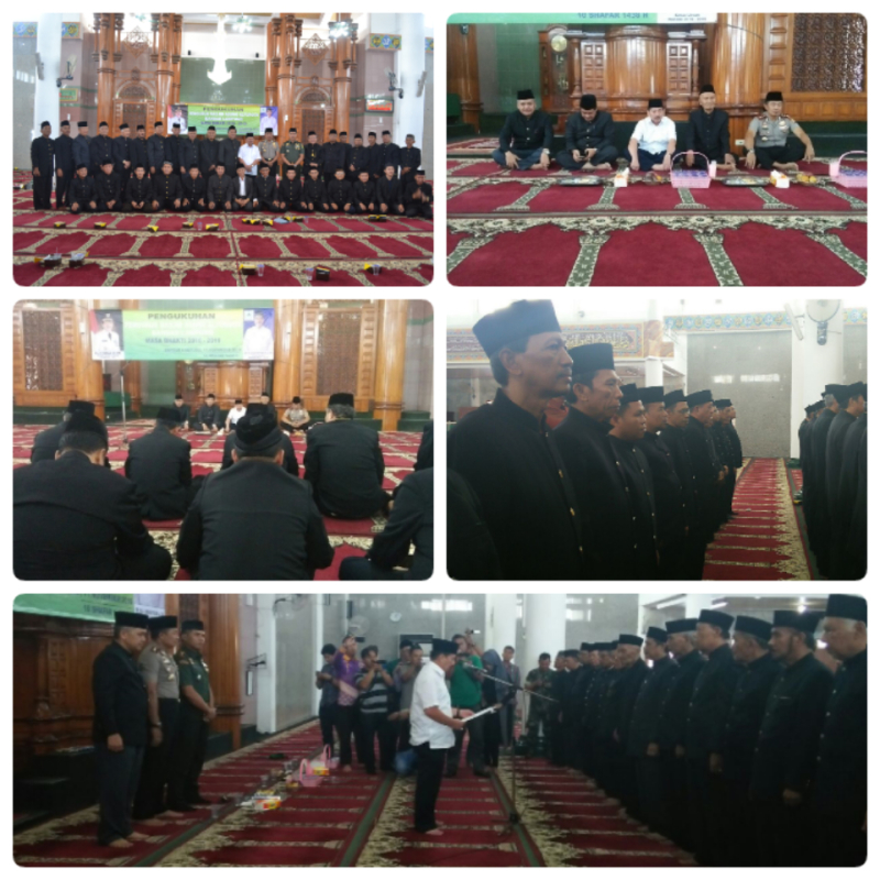 Ka Kemenag Balam Dampingi Walikota Kukuhkan Pengurus Masjid Al Furqon