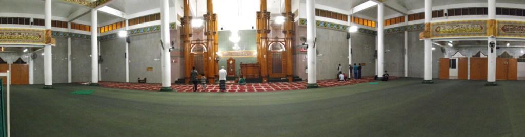 Masjid Agung Al Furqon Bandar Lampung Semalam Panorama Mode Kab