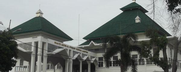 Masjid Bandar Lampung Kota Tujuan Wisata Agung Al Furqon Kab