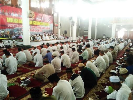 Ribuan Ikuti Tabligh Akbar Istigosah Qubro Masjid Al Masyarakat Lampung