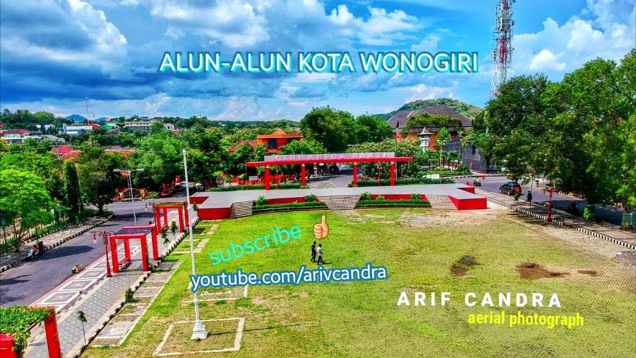 Alun Kota Wonogiri 2018 Drone Aerial Footage Youtube Kab