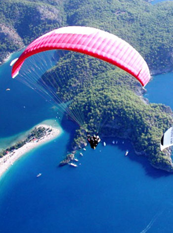 Extremeina Air Paragliding Biasa Disebut Paralayang Satu Jenis Olahraga Udara