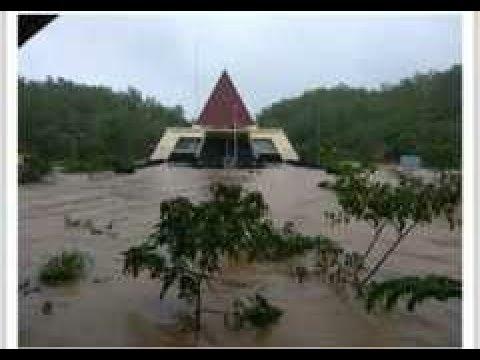 Wonogiri Berduka Museum Karst Indonesi Pracimantoro Terendam Banjir Terlihat Atapnya