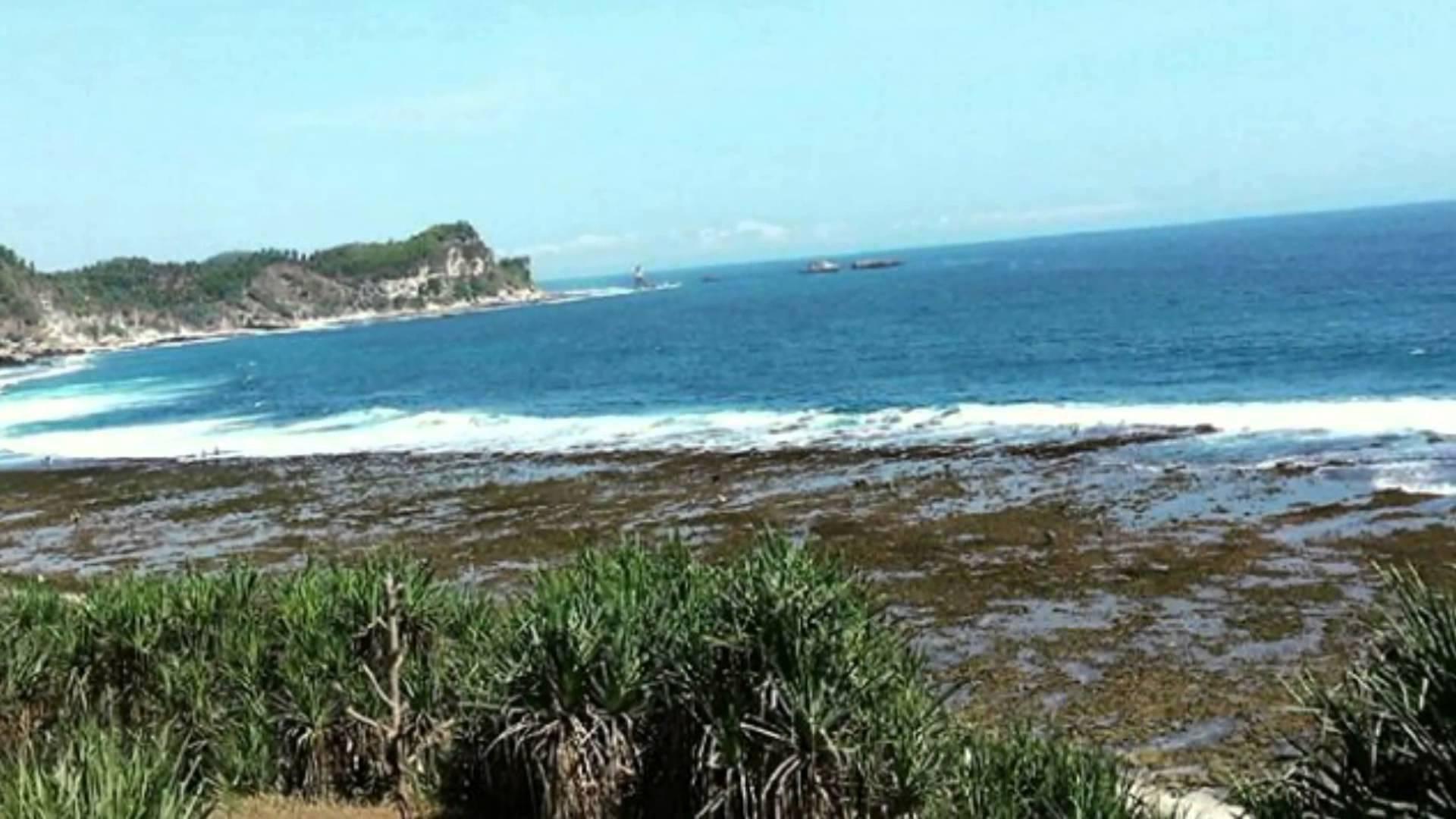 Beauty Nampu Beach Wonogiri Central Java Indonesia Keindahan Pantai Kab