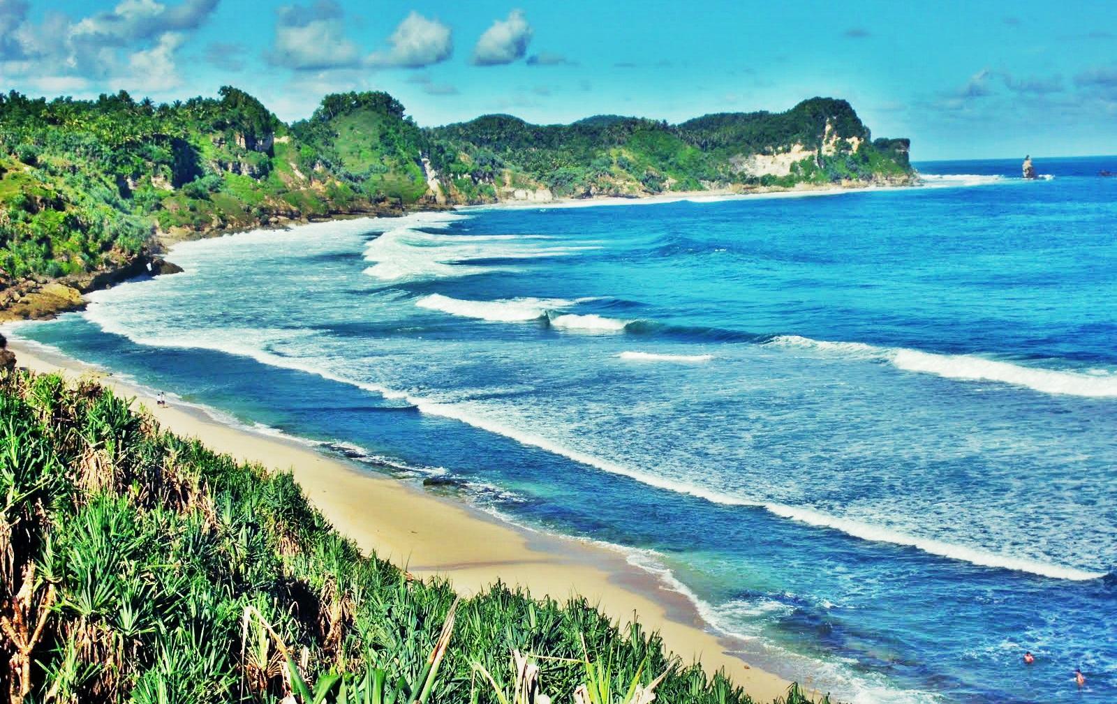 Keindahan Obyek Wisata Pantai Nampu Wonogiri Jawa Tengah Wiki Kab