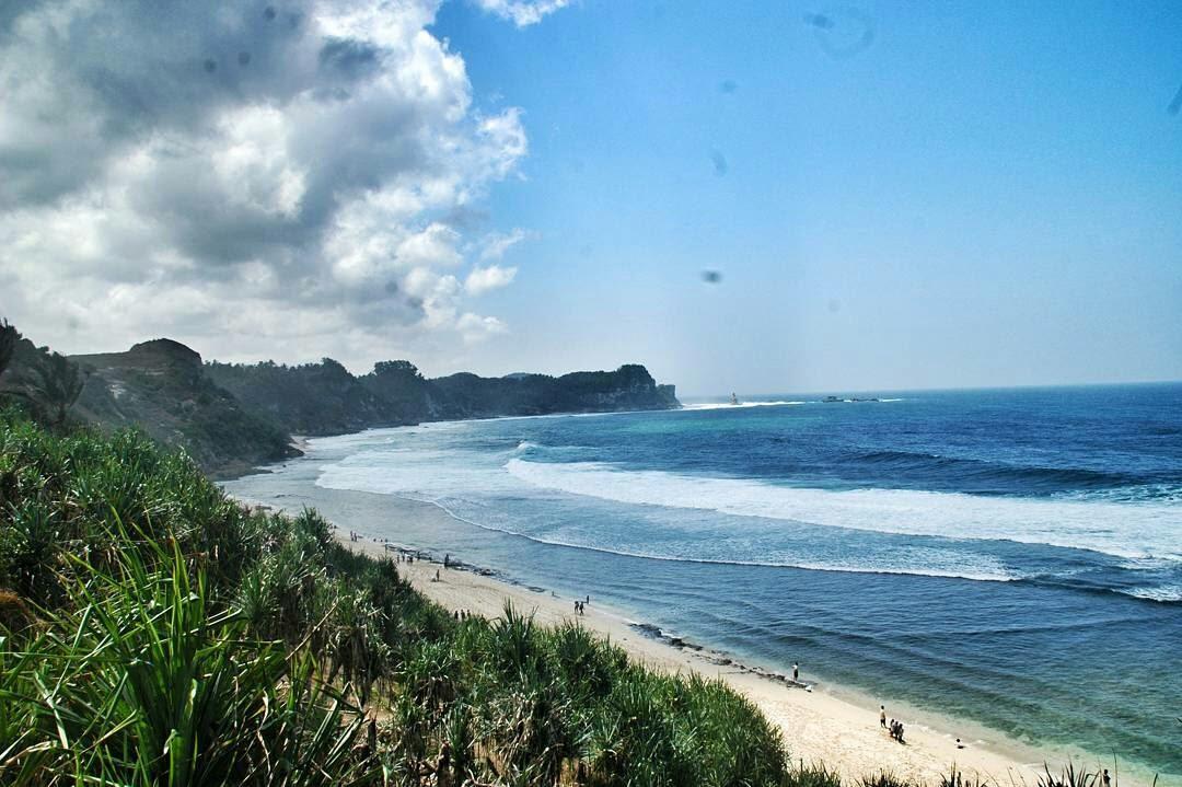 Pantai Nampu Cantik Tersembunyi Wonogiri Panorlens Kab
