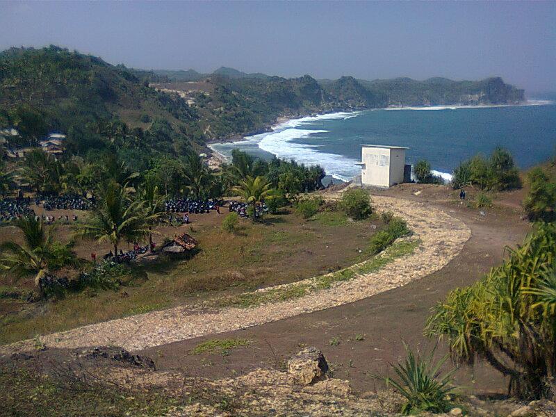Pantai Nampu Pacitan Wisata Indah Menawan Jalan Atas Wonogiri Kab