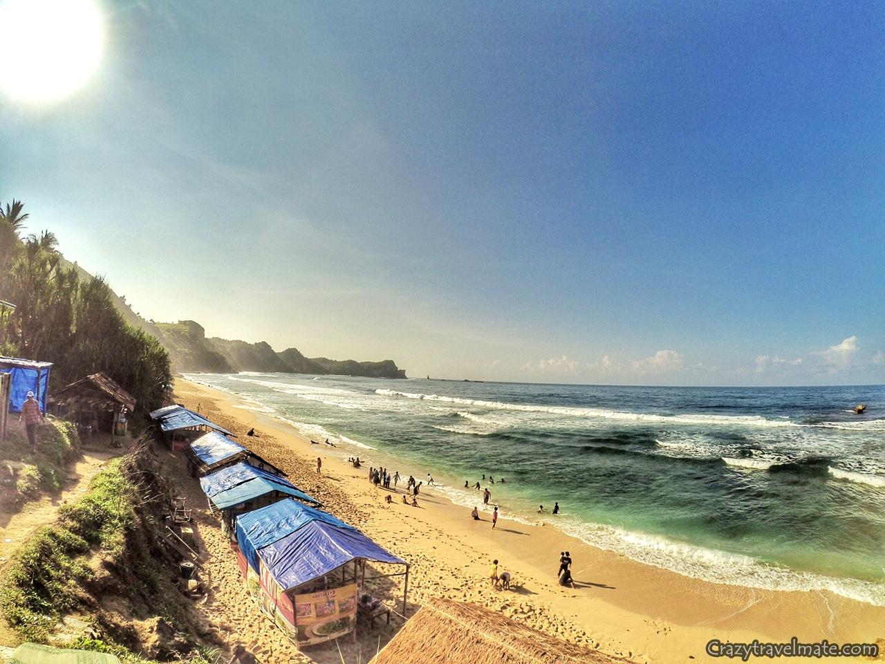 Pantai Nampu Pesona Pesisir Wonogori Crazy Couple Backpacker Sendiri Memiliki