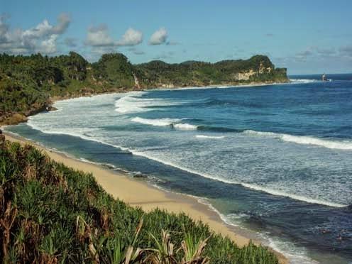 Pantai Nampu Wisata Wonogiri Eksotis Indonesia Kab