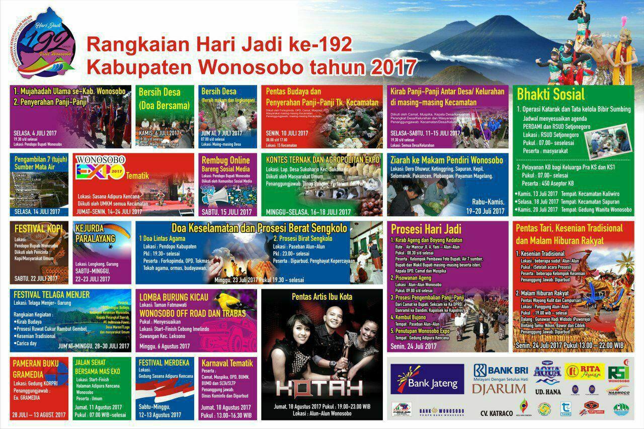 Berikut Agenda Hut Kabupaten Wonosobo 192 2017 Yuk Simak Alun