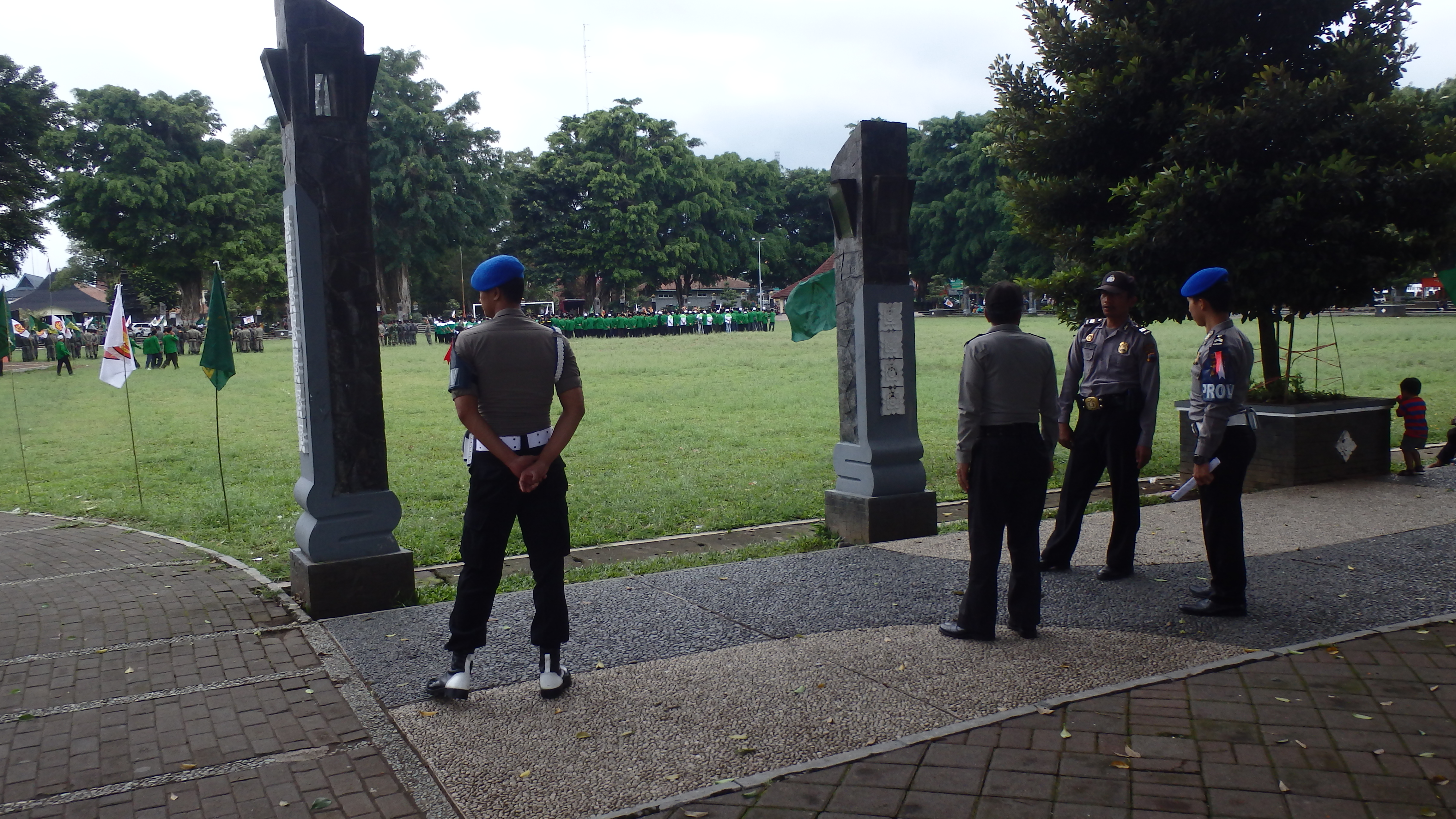 Polisi Amankan Apel Kebangsaan Banser Wonosobo Tribrata News Resor Alun