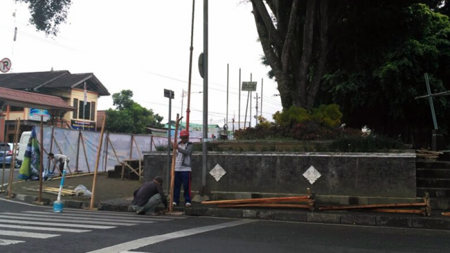 Revitalisasi Selesai 75 Hari Alun Kota Wonosobo Siap Digunakan Upacara