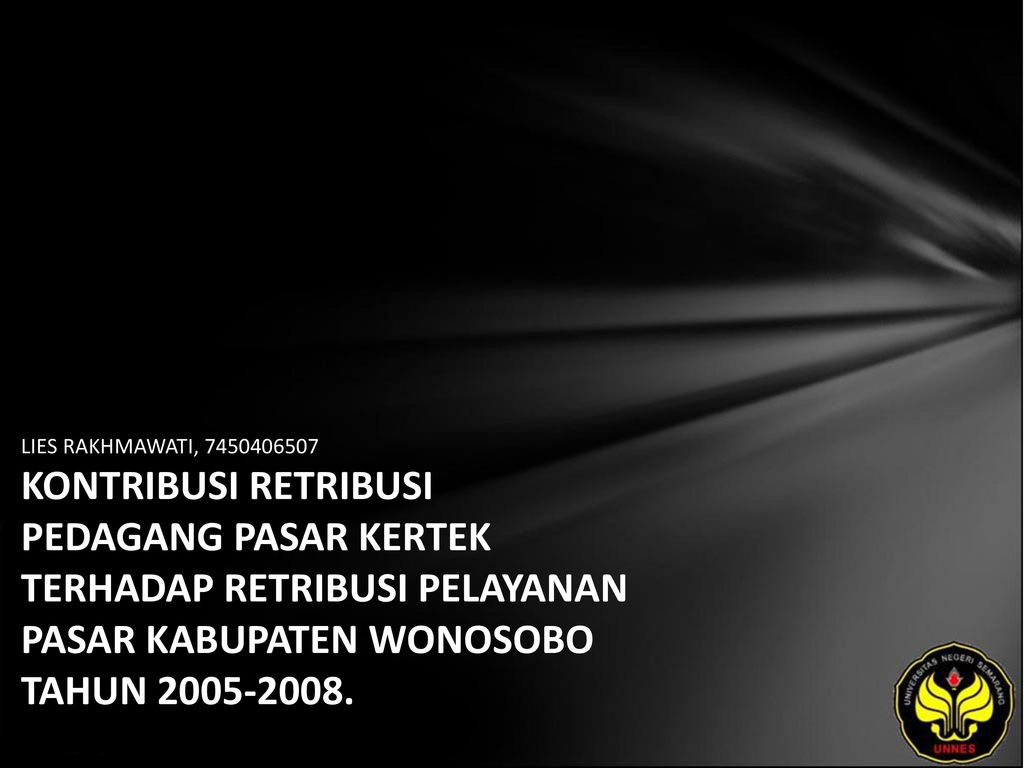Lies Rakhmawati Kontribusi Retribusi Pedagang Pasar Kertek Terhadap 7450406507 Pelayanan