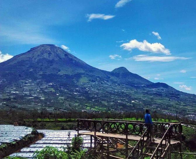 Wisata Alam Seroja Kabupaten Wonosobo Jawa Tengah Indonesia Jejak Puncak