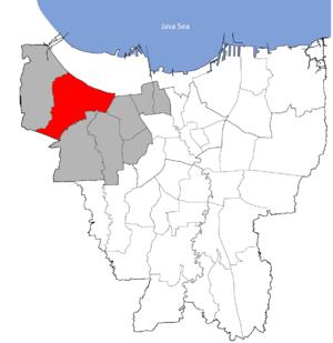 Cengkareng Jakarta Barat Wikipedia Bahasa Indonesia Ensiklopedia Peta Kecamatan Kota