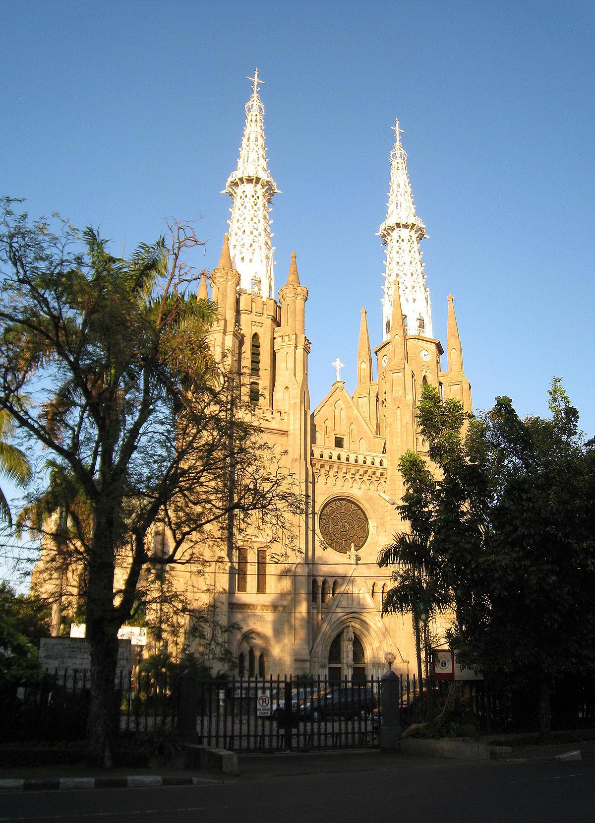 Gereja Katedral Jakarta Wikipedia Bahasa Indonesia Ensiklopedia Bebas Kelenteng Jin