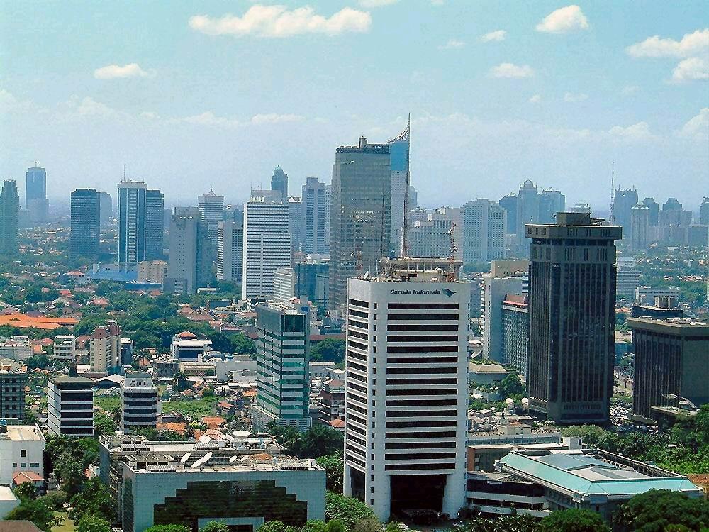 Jakarta Skyline Von Kelenteng Jin De Yuan Kota Administrasi Barat